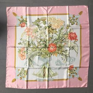 Vintage Hermes Pink Regina Carre Scarf NWOT